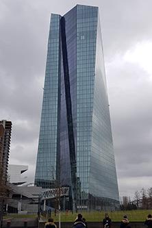 ECB european central bank building in frankfurt