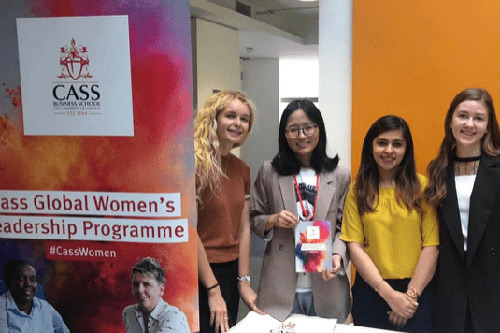 Mengjia Hang with other students at a Cass Global Women's leadership programme event