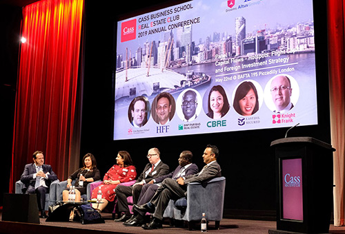Panel at the 2019 Cass Real Estate Club Summit on Global Investment Strategy