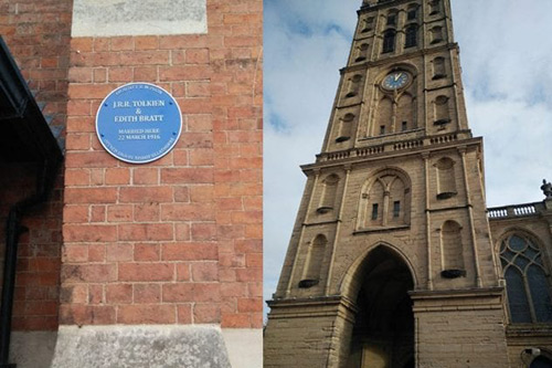 Blue plaque for JRR Tolkien and Edith Bratt