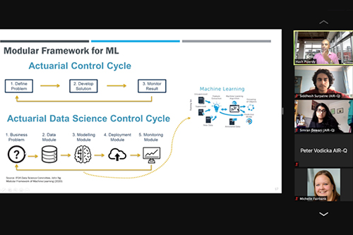 Online meeting: The actuarial control cycle