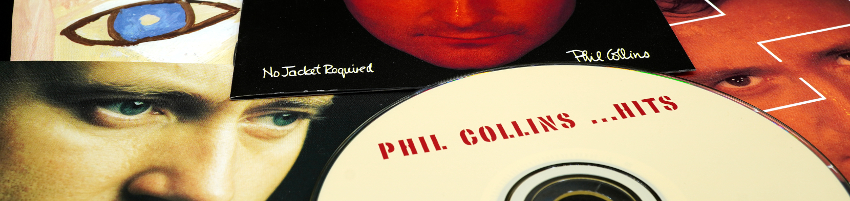 A collection of Phil Collins records