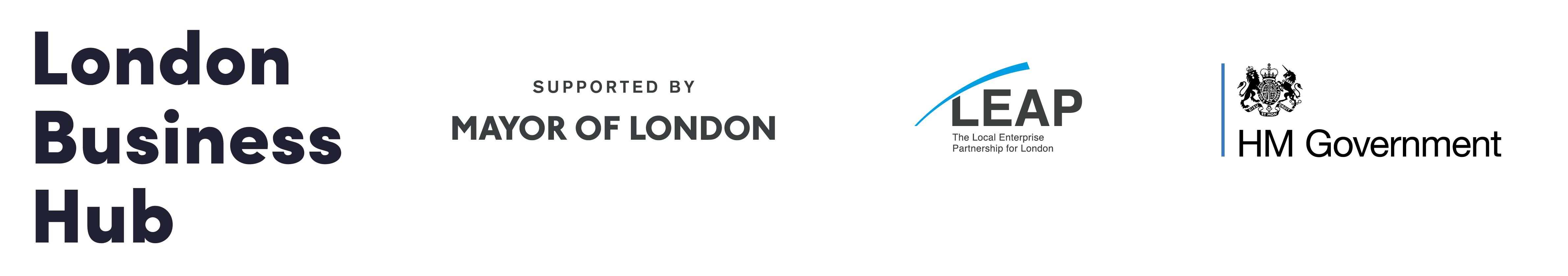London authority and London business hub logo partners