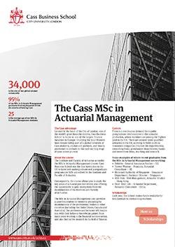 Actuarial Management Factsheet