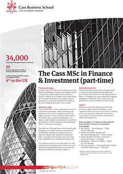 Finance and Investment factsheet