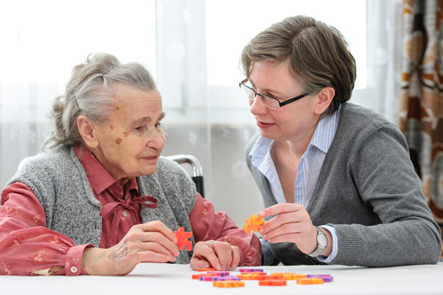Elder care Nurse with a senior woman
