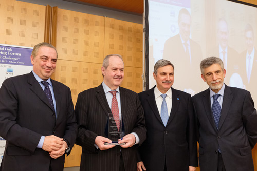Nikolas Bornozis, Costas Grammenos, Dr Anthony Papadimitriou and Dr Nikolas Tsakos at the Capital Link 8th forum