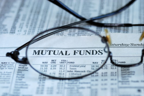 Mutual funds figures in newspaper