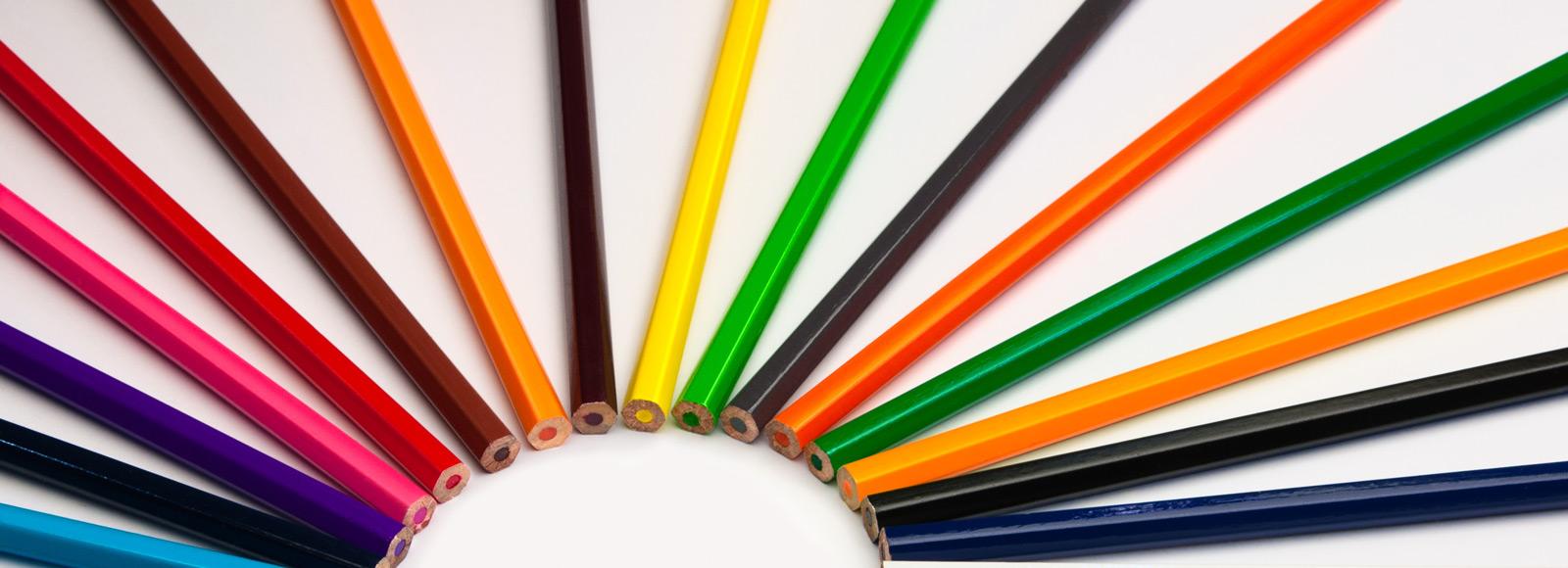 Pencils shaped into a lightbulb 'ideas'