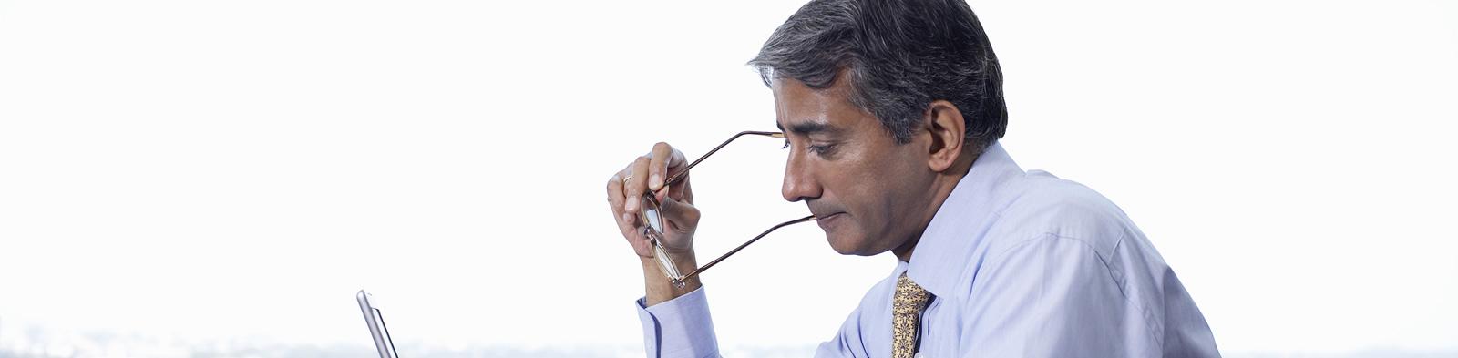 A businessman in India