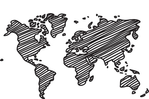 Sketch of the world's countries
