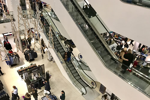 Escalators in a employee-owned retail business