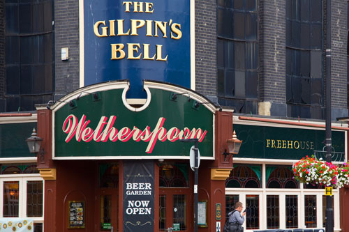 The exterior of a JD Wetherspoon's pub