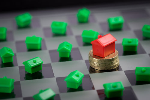 monopoly houses on a chess board