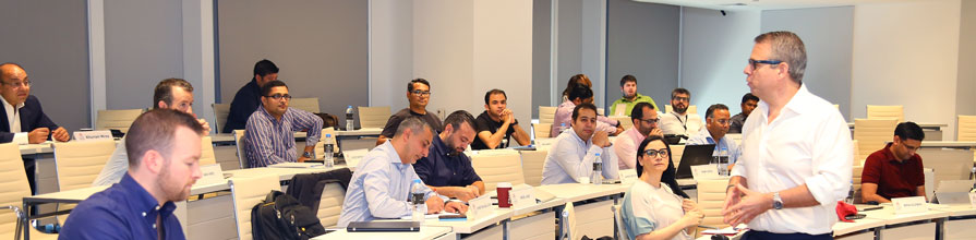 Professor Costas Andriopoulos delivering the New Venture Creation elective