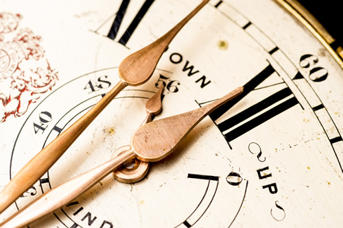 An antique marine chronometer