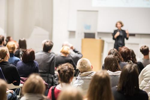 Charismatic teacher captivating her class
