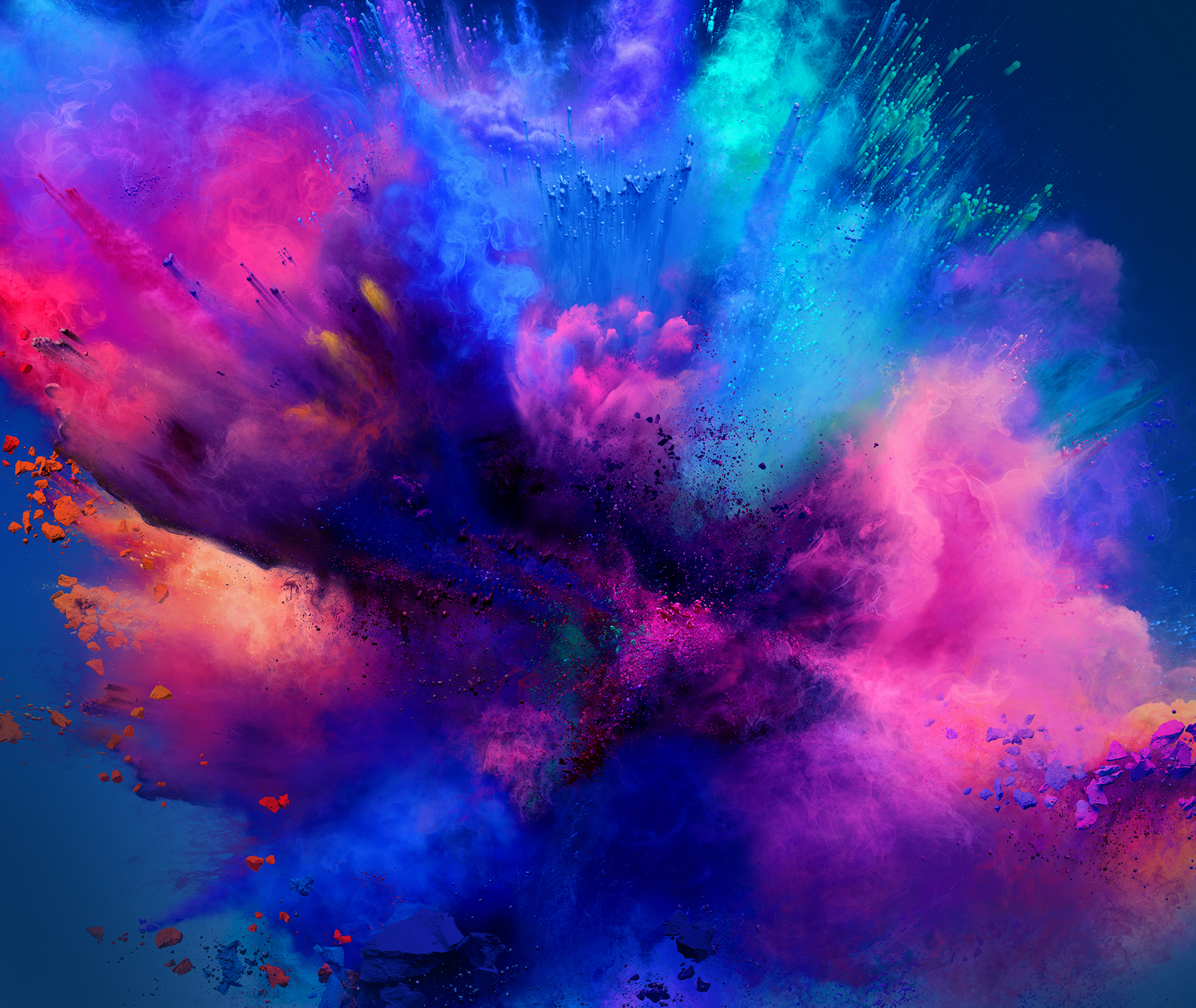 Splash of colour clouds