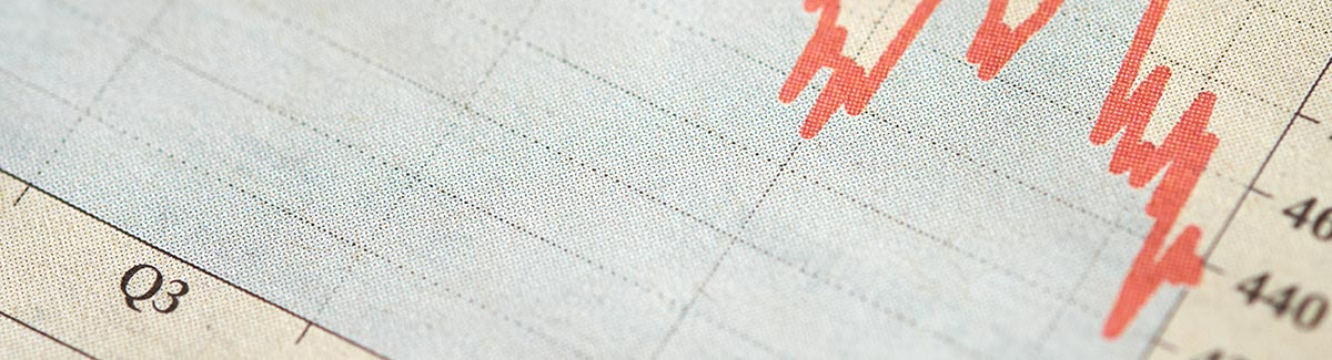 Close up of a graph printed on cloth