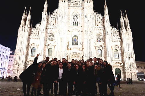 MSc Management students in Milan