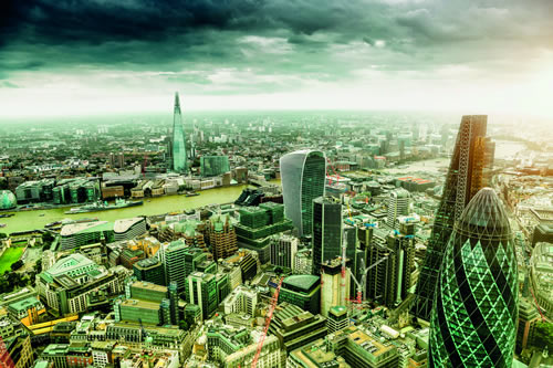 A view of the London skyline