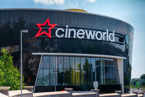 Front of a Cineworld cinema