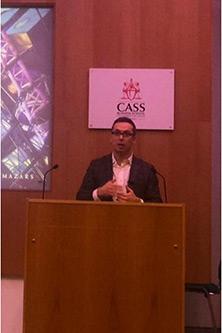 Dimitrios Velmachos at the Cass Air Q Actuarial Forum