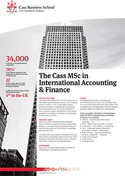 International Accounting and Finance factsheet