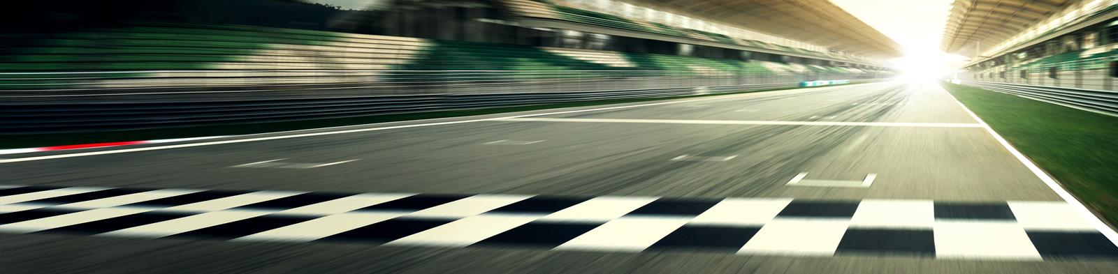 Racetrack finishing line