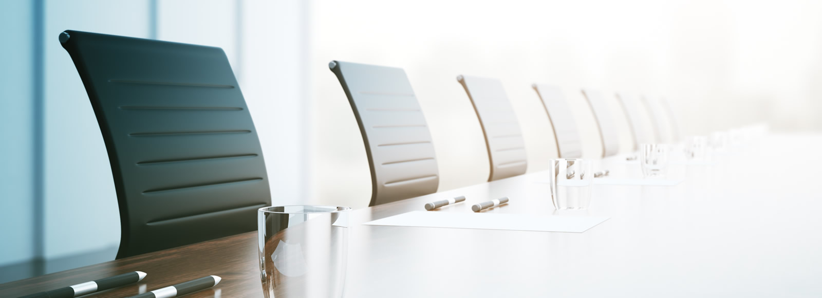 Chairs in a boardroom