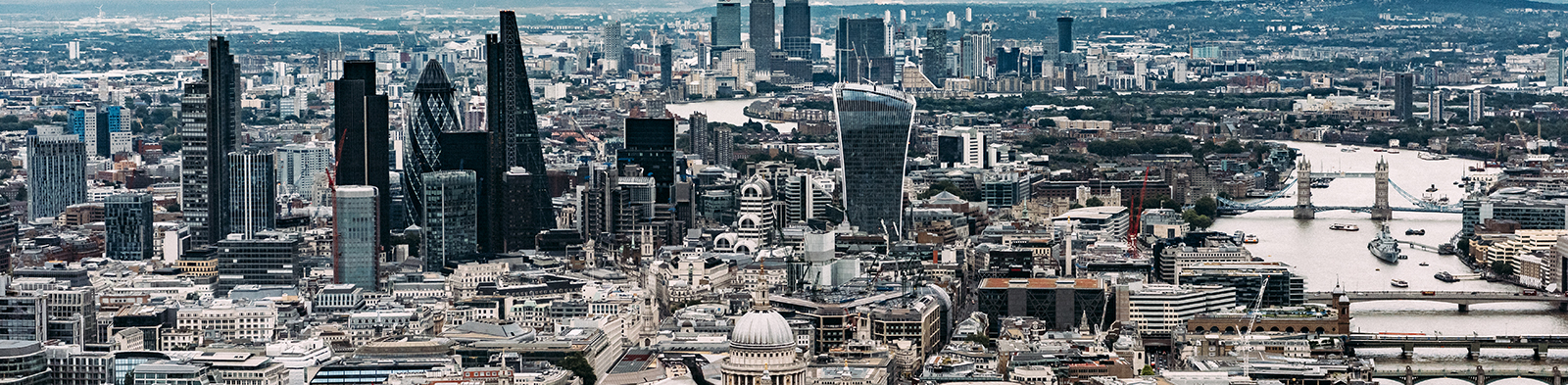 London skyline from above.