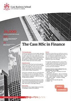 Finance factsheet