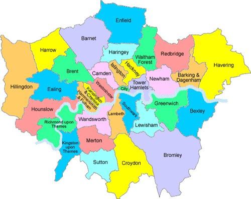 London Border Map.Map Of Outside London Twitterleesclub