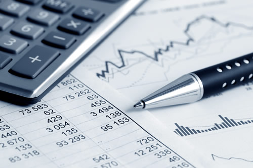 Financial figures and calculator
