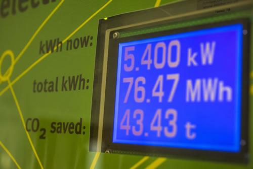 Display screen on a smart meter