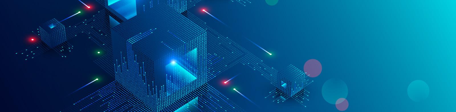 Graphic of blockchain technology