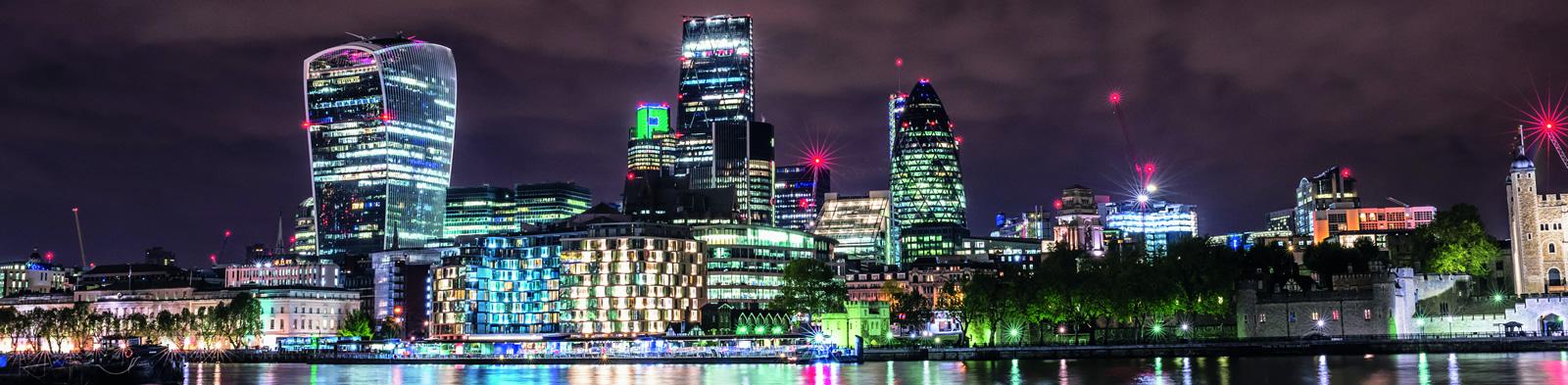 City of London illuminated
