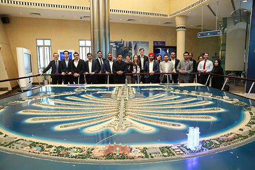 The delegation at Nakheel