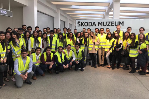 Cass MSc in Management students tour the Skoda factor in Prague as part of a 2019 Study tour of the city.