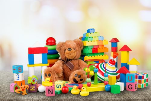 A collection of children's toys
