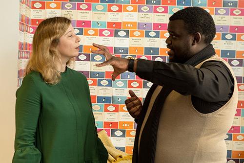 Caroline Wiertz with Mkhuzo Mbazine