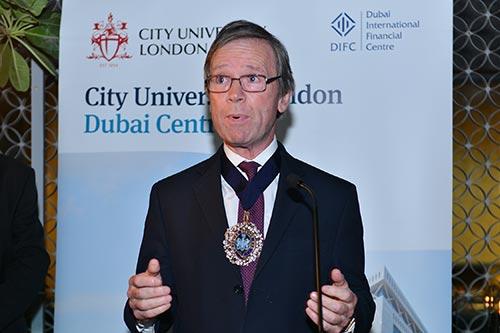 Lord Mountevans at Dubai Centre