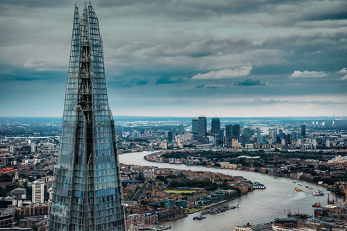 The Shard and London. MBA success at Cass.