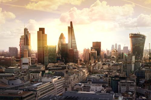 London's financial district skyline