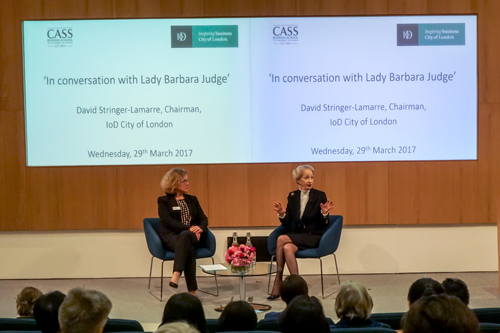 Lady Barbara Judge and Professor Marianne Lewis