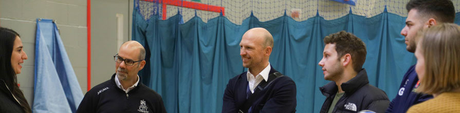Matt Dawson meets City rugby team in visit to CitySport